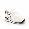Immagine di US POLO ASSN.- ELENE4161 scarpa sportiva in ecopelle con logo laterale e dettagli a contrasto