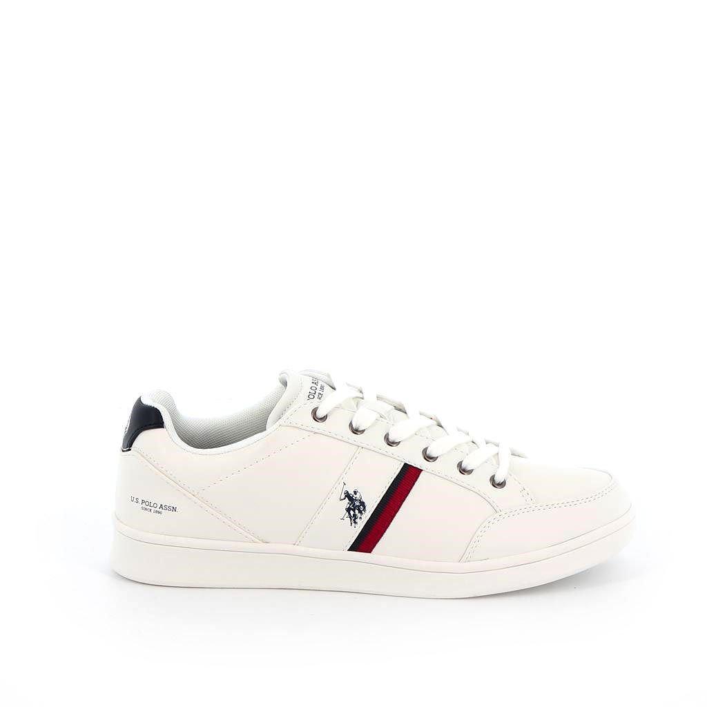 Immagine di US POLO ASSN.- PIET4160 scarpa sportiva in ecopelle con logo laterale e sulla patch posteriore