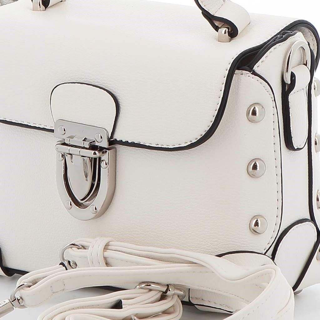 Immagine di MARINA GALANTI- Borsetta a mano con patta e borchie tonde e tracolla rimovibile
