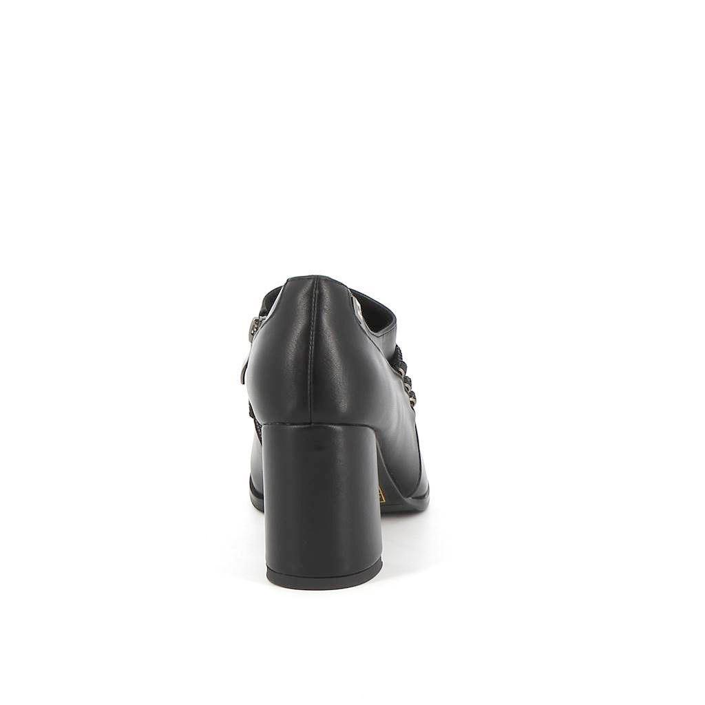 Immagine di MISS GLOBO- Tronchetto con cordini strass e tacco 7,5CM