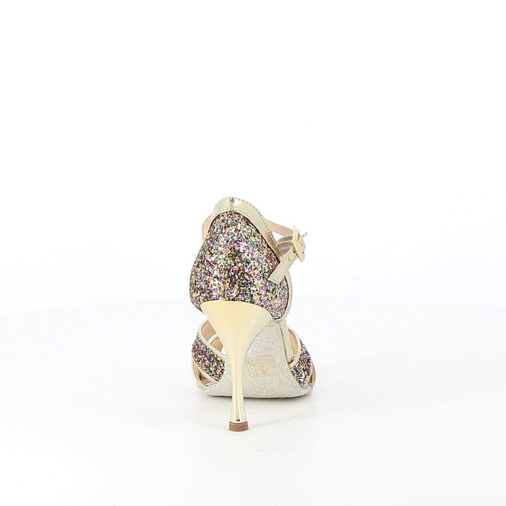 Immagine di LOVE TO DANCE- Dècolletè da ballo glitter con sottopiede in VERA PELLE, MADE IN ITALY, tacco 9,5CM