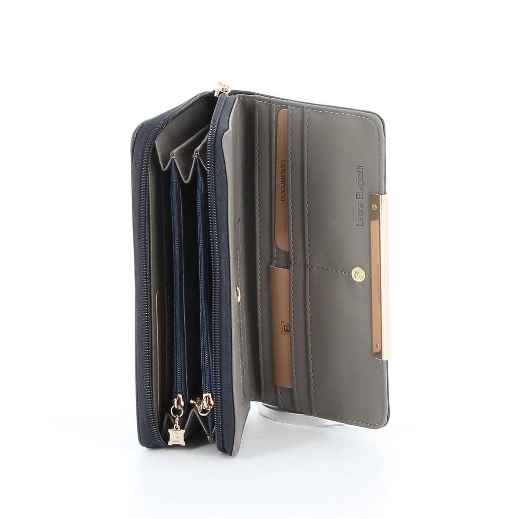Immagine di LAURA BIAGIOTTI- Portafogli con fiocco e inserto metallico