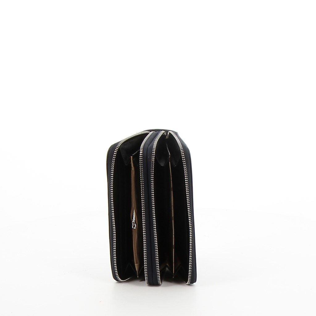 Immagine di COVERI- Portafogli trapuntato con rivetti e doppia cerniera