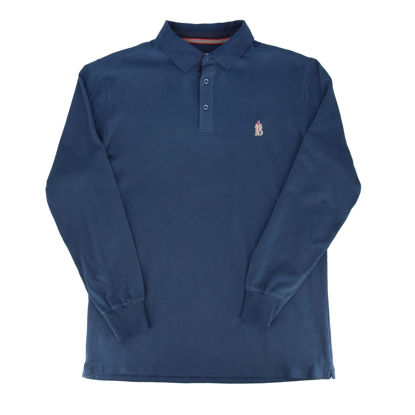 Immagine di BLUE LEMON - OVER POLO MANICA LUNGA JERSEY RICAMO PUGNALE