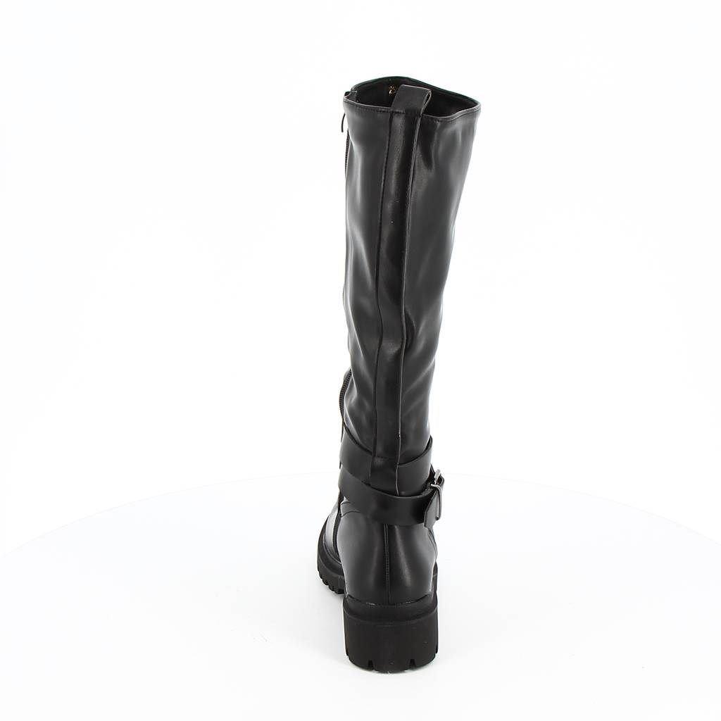 Immagine di ZOE- Stivale con punta tonda e cinturino alla caviglia, tacco 5CM