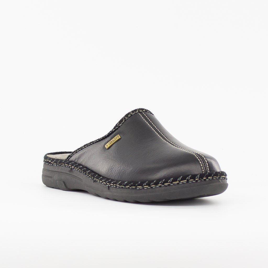 Immagine di TIGLIO- Pantofole con cuciture a contrasto