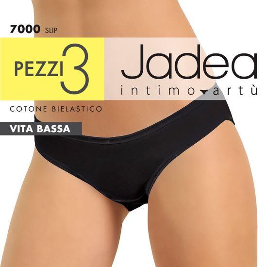 Immagine di JADEA - SLIP VITA BASSA COTONE BIELASTICO 3 PEZZI