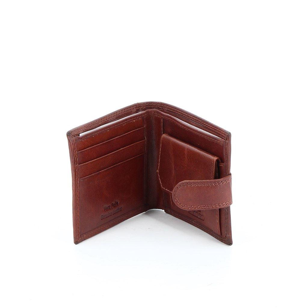 Immagine di CHARRO- Portafoglio piccolo in VERA PELLE con chiusura a bottone