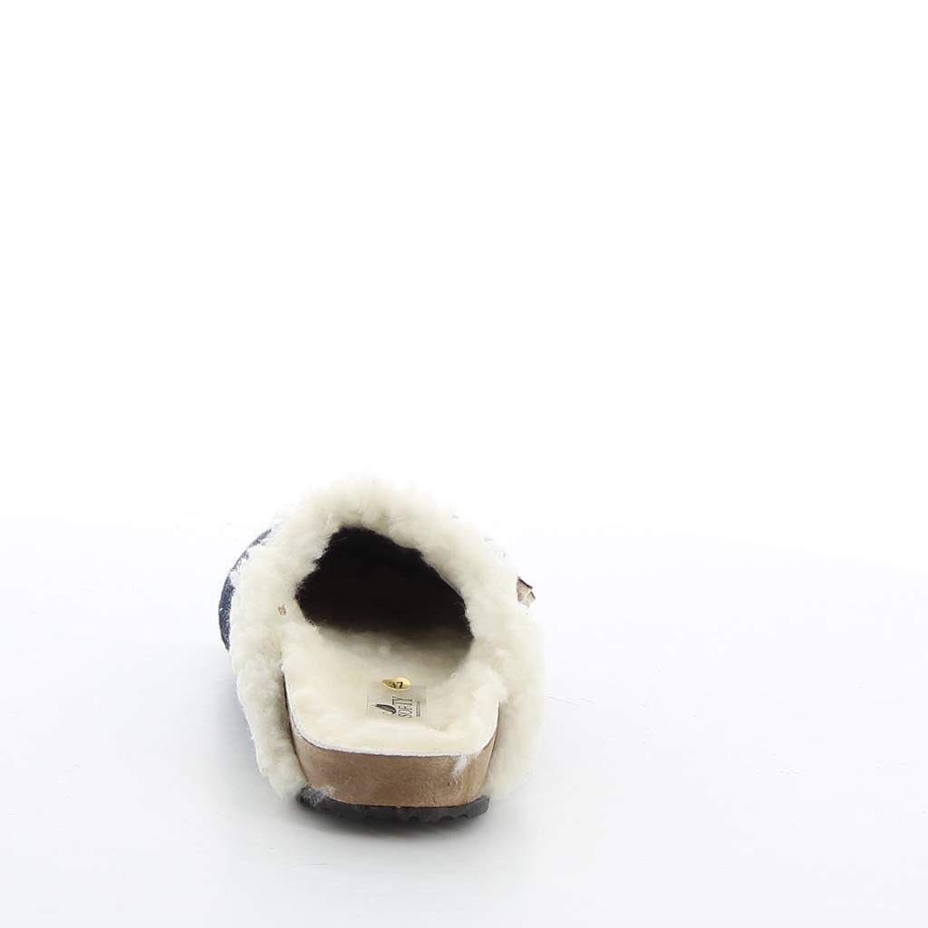 Immagine di SOFTY- Pantofole con fiorellino e pelliccia interna, MADE IN ITALY
