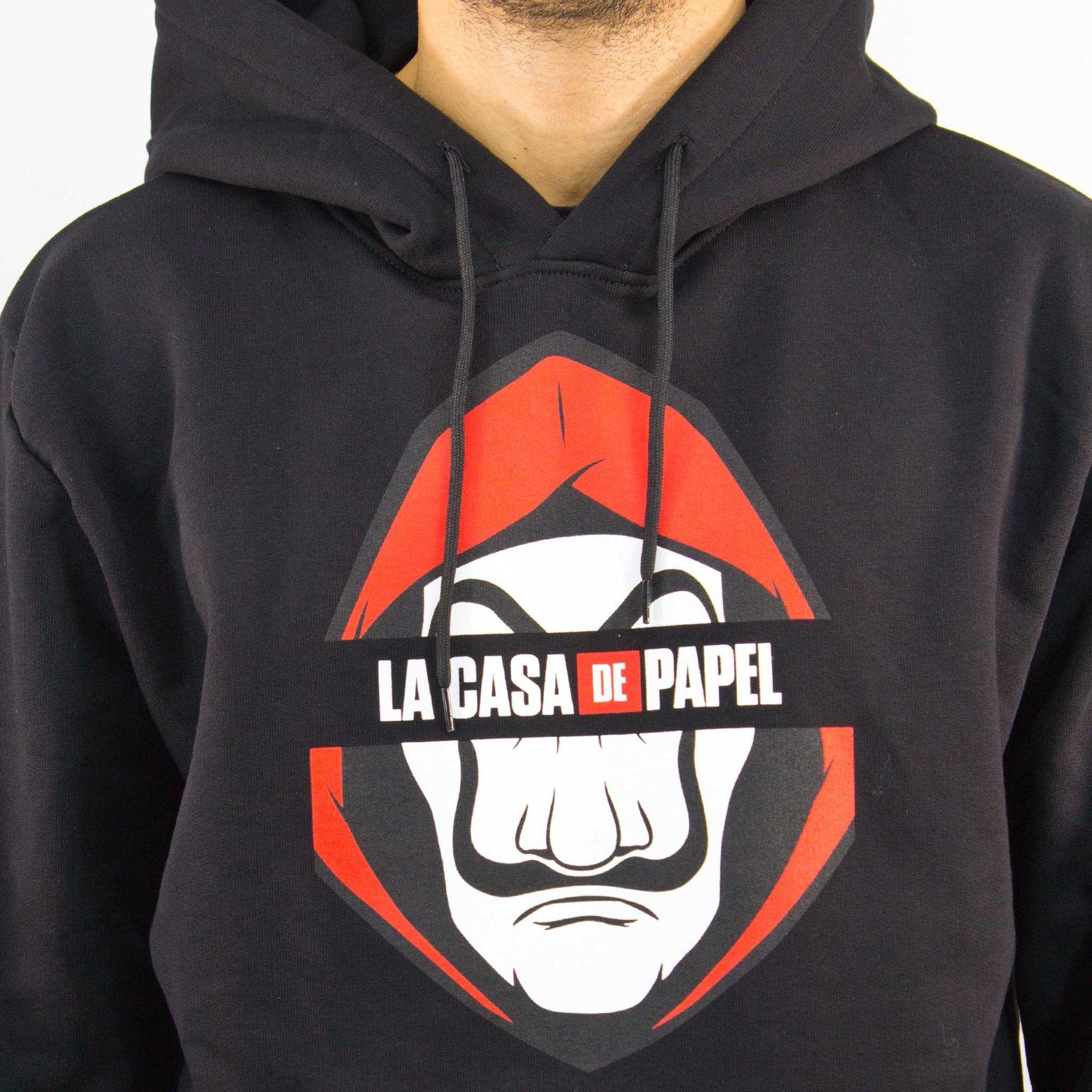Immagine di CASA DE PAPEL - UOMO FELPA CON CAPPUCCIO