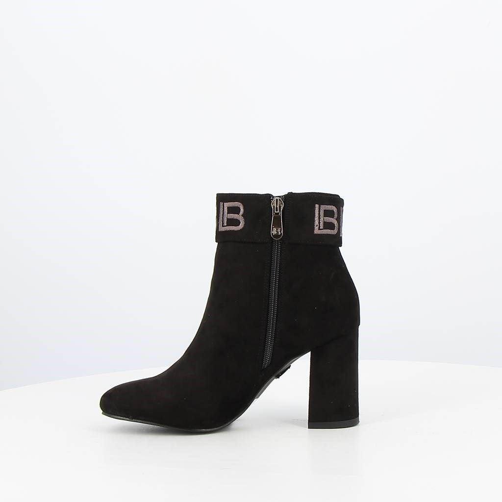 Immagine di LAURA BIAGIOTTI - Tronchetto con fascia logata alla caviglia e zip laterale, tacco 8,5CM