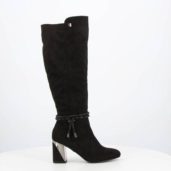 Immagine di LAURA BIAGIOTTI - Stivale con finto cinturino strass alla caviglia e zip laterale, tacco 7,5CM