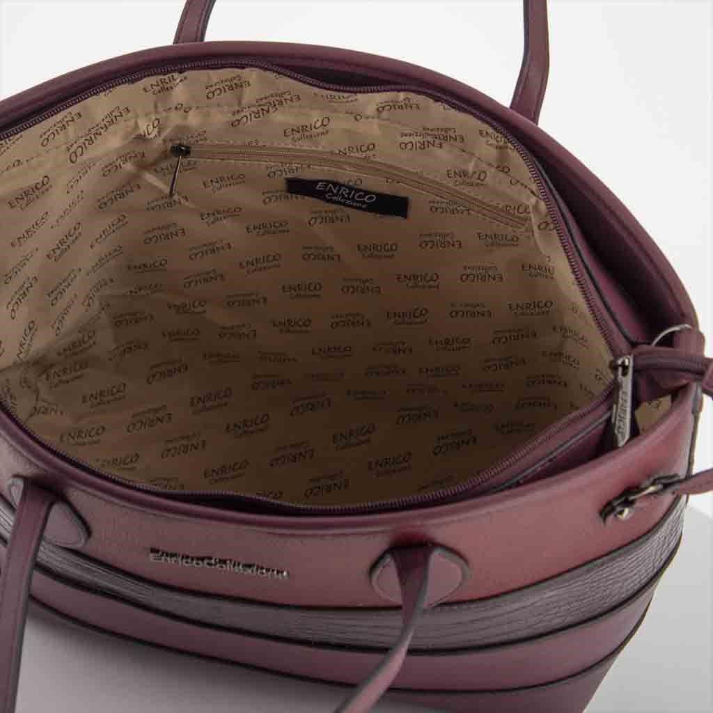 Immagine di ENRICO COLLEZIONE - Shopping con tracolla rimovibile e fasce multimateriale