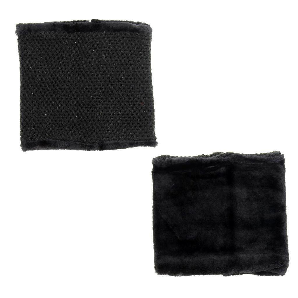 Immagine di PIERRE CARDIN - Collo in maglia intrecciata reversibile con interno in pelliccia