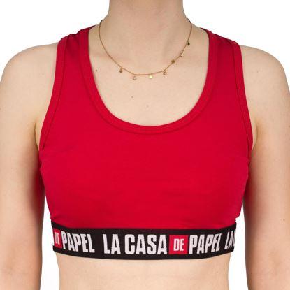 Immagine di CASA DE PAPEL - DONNA TOP CON ELASTICO STAMPATO