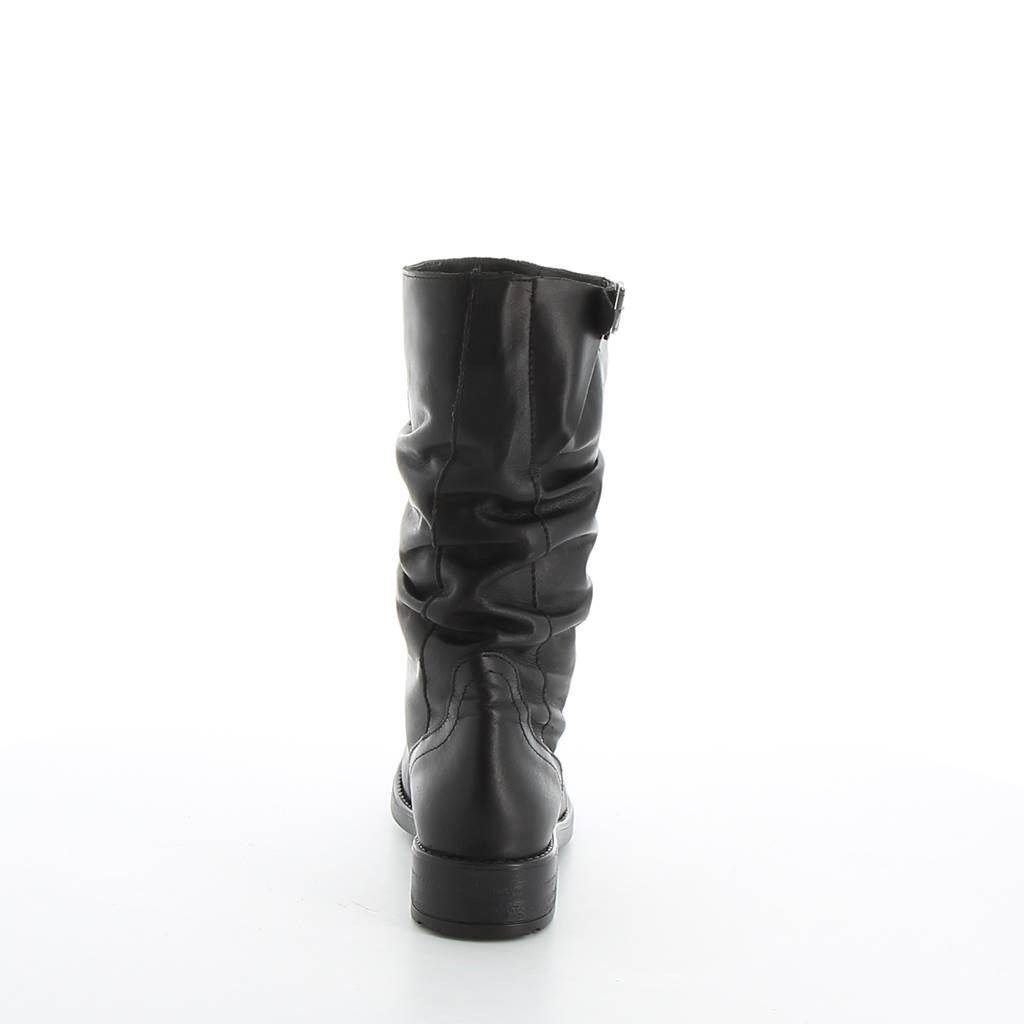Immagine di AGORà- Stivale con gambale arricciato e dettaglio fibbia regolabile al polpaccio, tacco 3,5CM - VERA PELLE