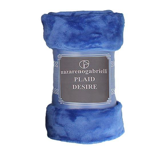 Immagine di NAZARENO GABRIELLI - Plaid tinta unita modello DESIRE', cm 130x160