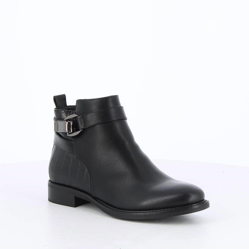 Immagine di TATOO - Stivaletto con inserto cocco sul retro e fibbia alla caviglia, tacco 3CM
