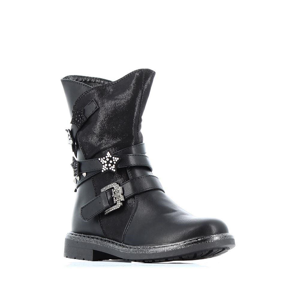 Immagine di ENRICO COVERI -Anfibio con strass sulla caviglia e lacci glitterati, tacco 3,5CM