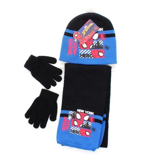 Immagine di SPIDERMAN - Completo cappello, guanti e sciarpa