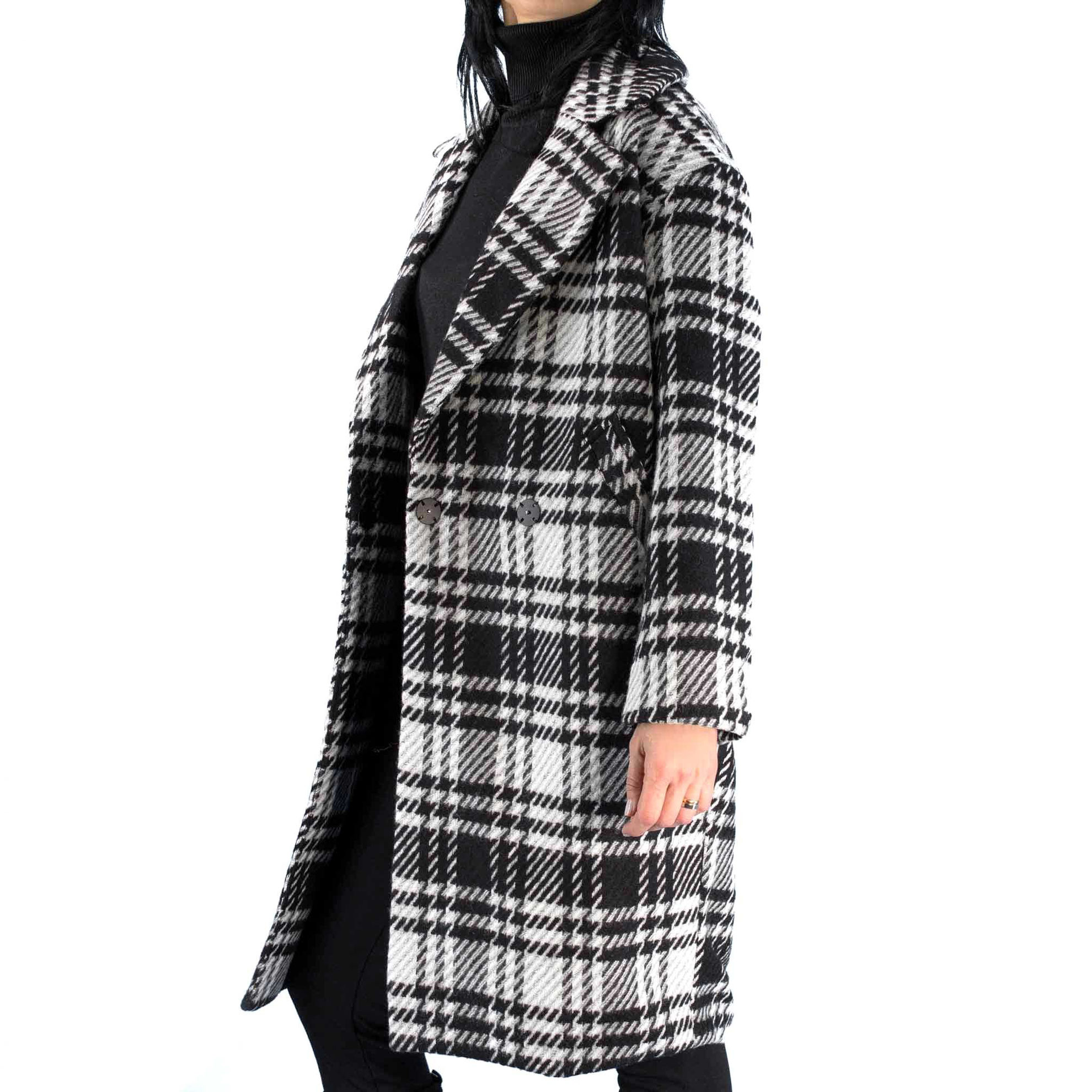 Immagine di CAPPOTTO DAJANA CHECK WOOL BLACK