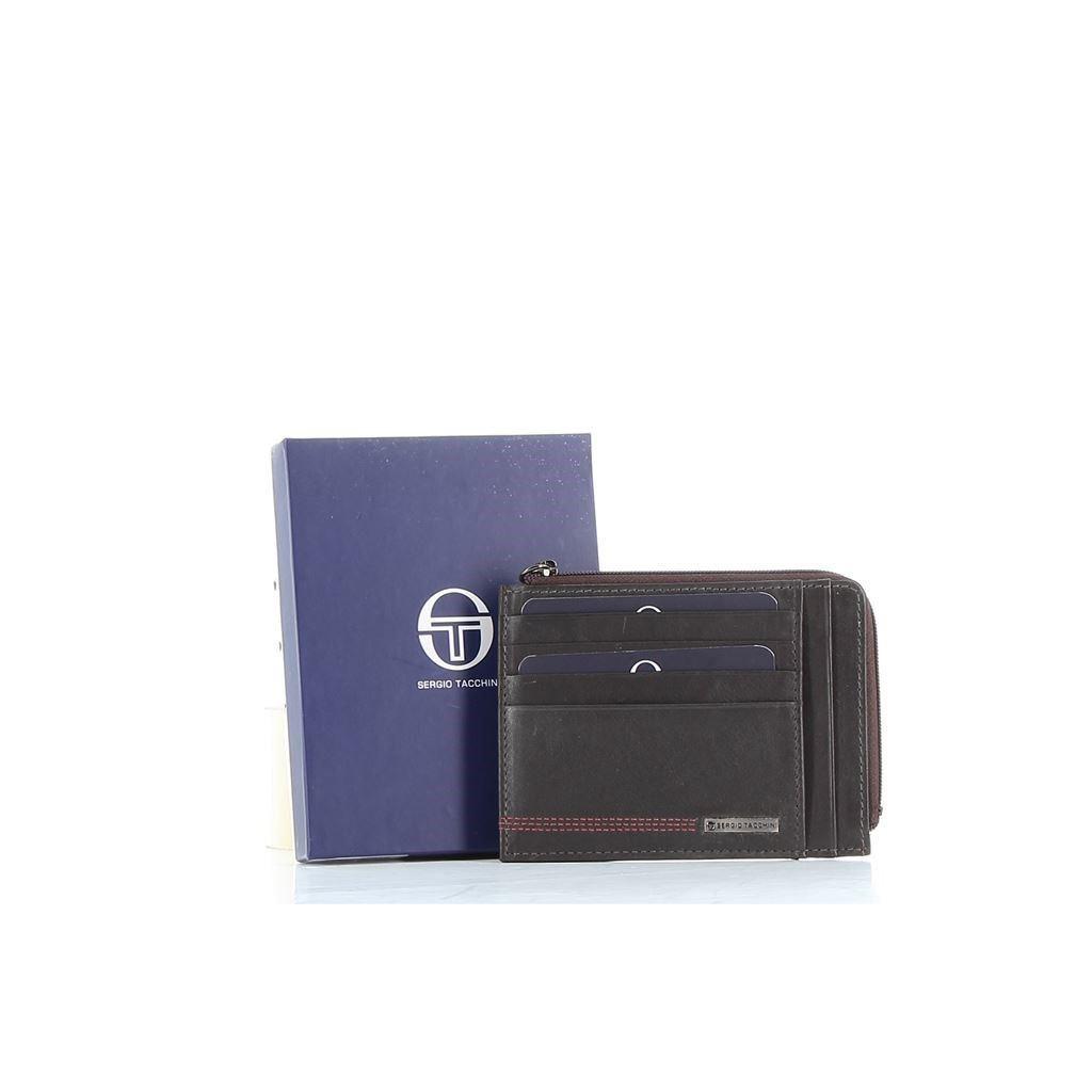 Immagine di SERGIO TACCHINI - Porta carte di credito in VERA PELLE con taschino portaspicci