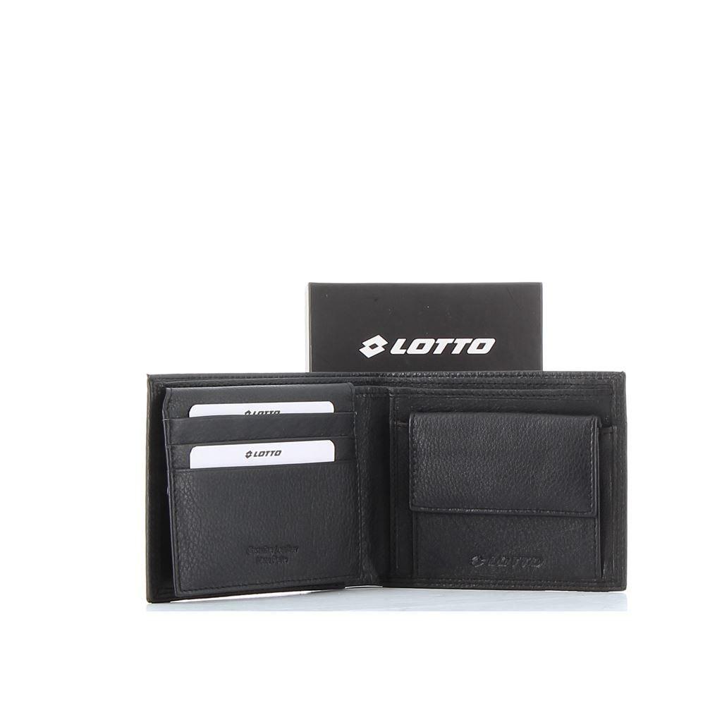 Immagine di LOTTO - Portagolio in VERA PELLE con doppio scomparto banconote e tasca portaspicci