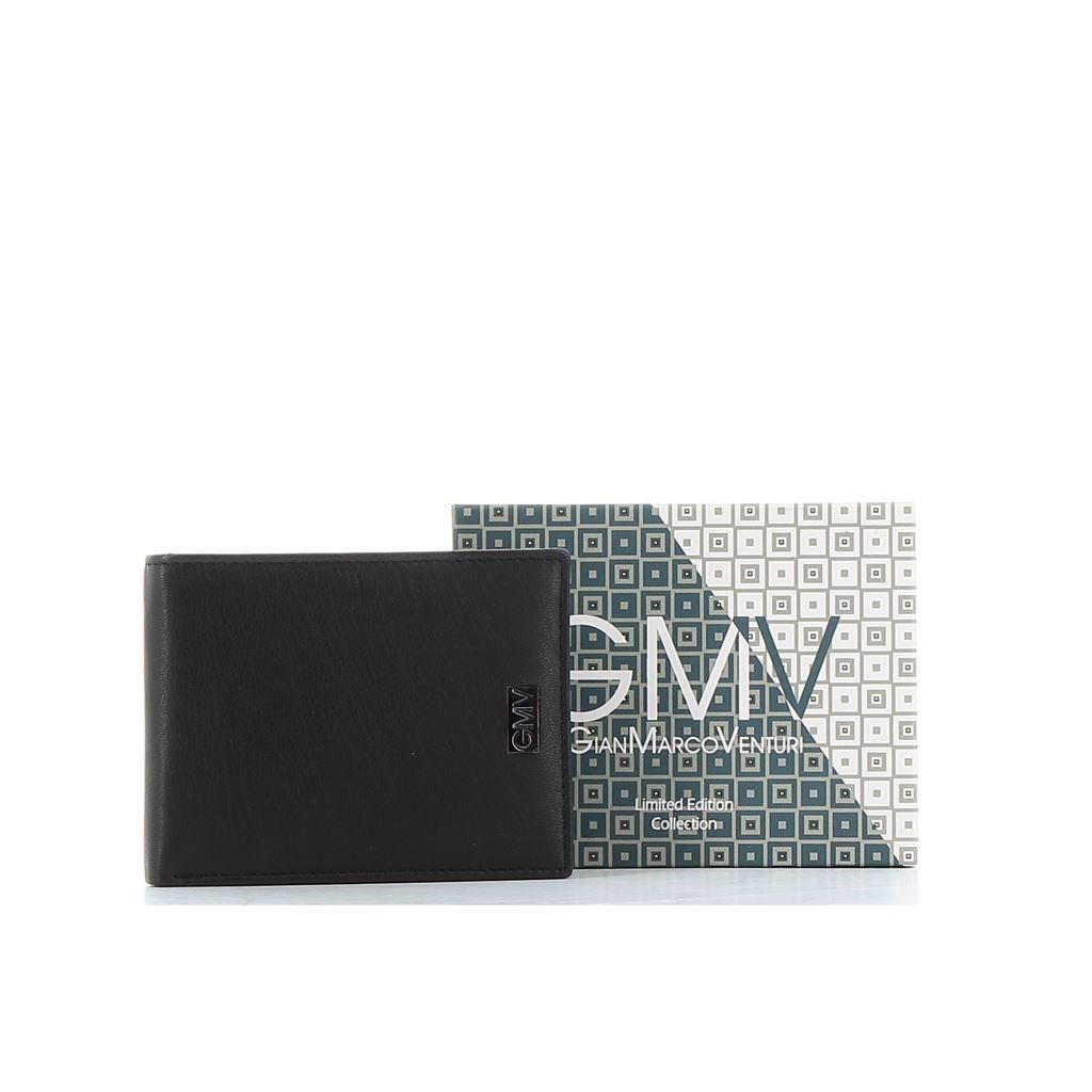 Immagine di GIANMARCO VENTURI - Portafoglio in VERA PELLE con doppio scomparto banconote e tasca portaspicci