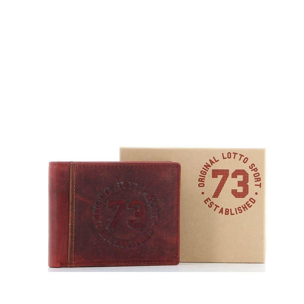 Immagine di LOTTO - Portafoglio in VERA PELLE con doppio scomparto banconote e tasca portaspicci