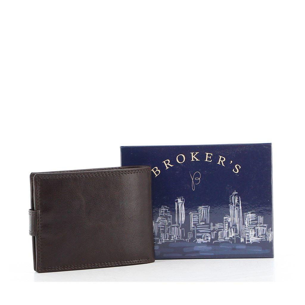 Immagine di BROKER'S - Portafoglio in VERA PELLE con chiusura a bottone