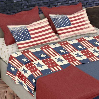 Immagine di MORFEO - LENZUOLA COPPIA FLAGS USA 2 PIAZZE