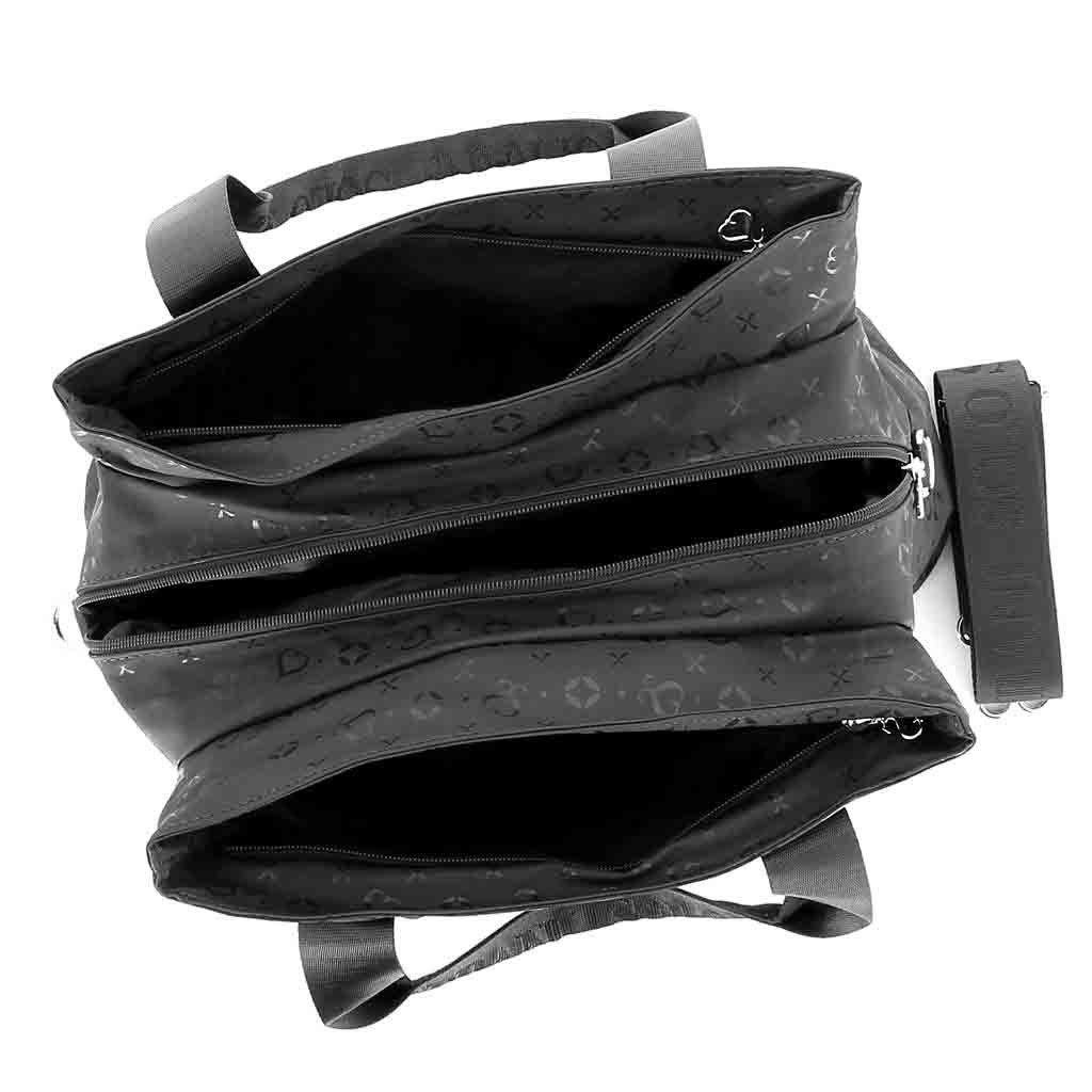 Immagine di SOLO SOPRANI - Borsa due manici con tre scomparti principali e tracolla rimovibile