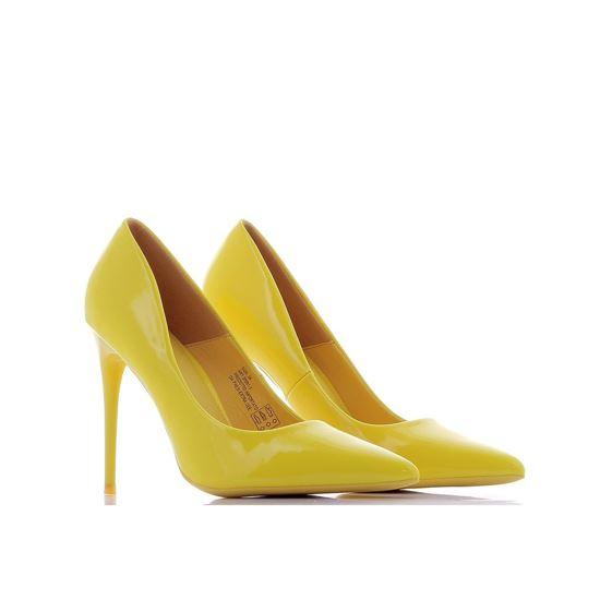 Immagine di MISS GLOBO - Décolleté in vernice giallo fluo e tacco 11CM