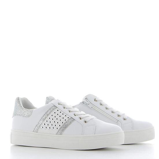 Immagine di DETTAGLI - Sneakers con borchie e dettagli glitterati, cerniera laterale e sottopiede in VERA PELLE