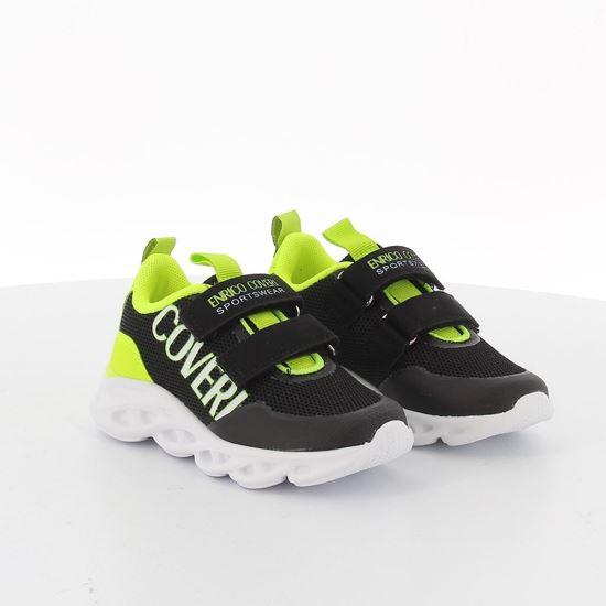 Immagine di ENRICO COVERI - Sneakers con strappi e dettagli fluo