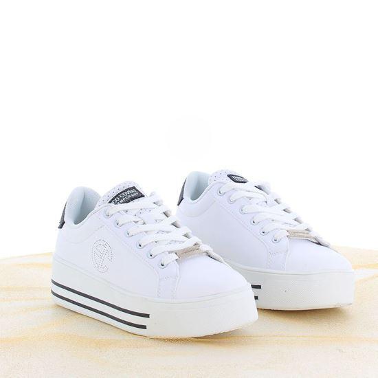 Immagine di ENRICO COVERI - Sneakers platform patch posteriore glitterata