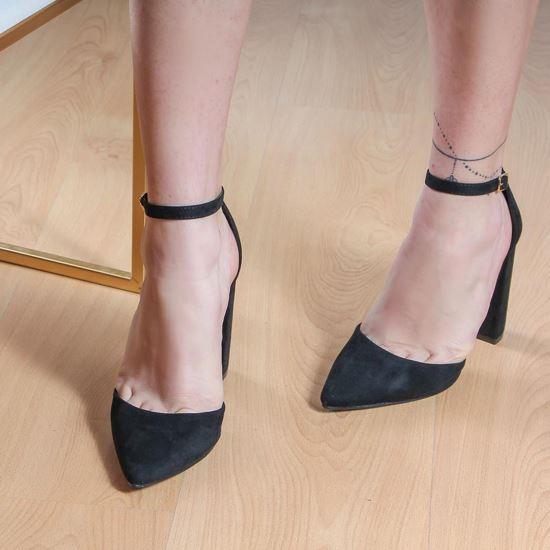 Immagine di MISS GLOBO - Décolleté a punta con cinturino alla caviglia, tacco 11CM