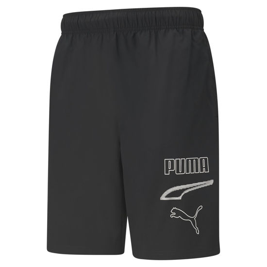 Immagine di SHORT REBEL WOVEN 9 BLACK-LOGO BLACK