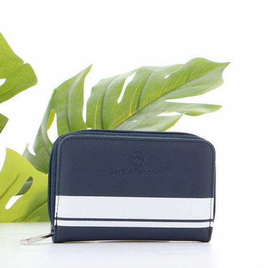 Immagine di SERGIO TACCHINI - Portafoglio con tre scomparti e fascia a contrasto