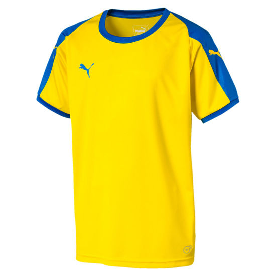 Immagine di PUMA - T-SHIRT MM LIGA JR TEE YELLOW-ROYAL