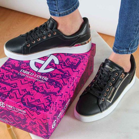 Immagine di ENRICO COVERI CONTEMPORARY - Sneakers con zip laterale e dettagli metallici