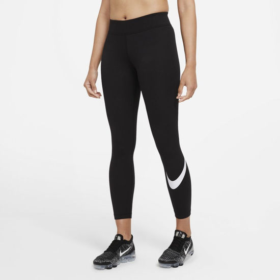 Immagine di NIKE - LEGGINGS NSW ESSNTL GX MR LGGNG SWSH BLK
