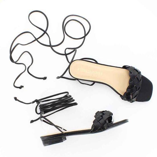 Immagine di VANILLA PUNK - Sandalo lace up con punta quadrata e fascia intrecciata