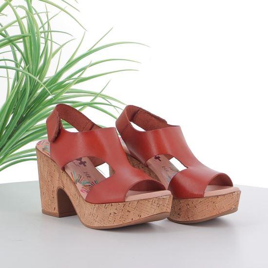 Immagine di AD+GUAPA - Sandalo in VERA PELLE con doppia fascia a T, tacco 9,5CM