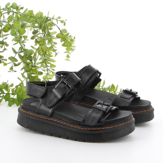 Immagine di SHOOTERS - Sandalo in VERA PELLE con strappo posteriore e doppia fibbia