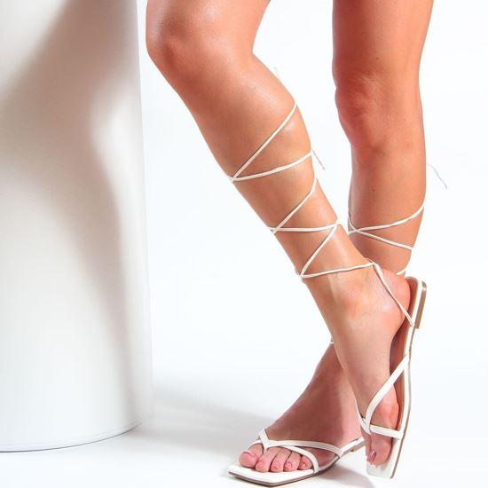 Immagine di MISS GLOBO - Sandalo infradito lace up con punta quadrata