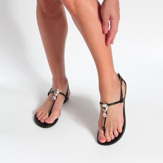 Immagine di MISS GLOBO - Sandalo infradito con doppia pietra gioiello