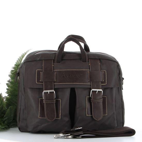 Immagine di AVIREX- Cartella con patta doppio scomparto e tasca porta computer, tracolla rimovibile