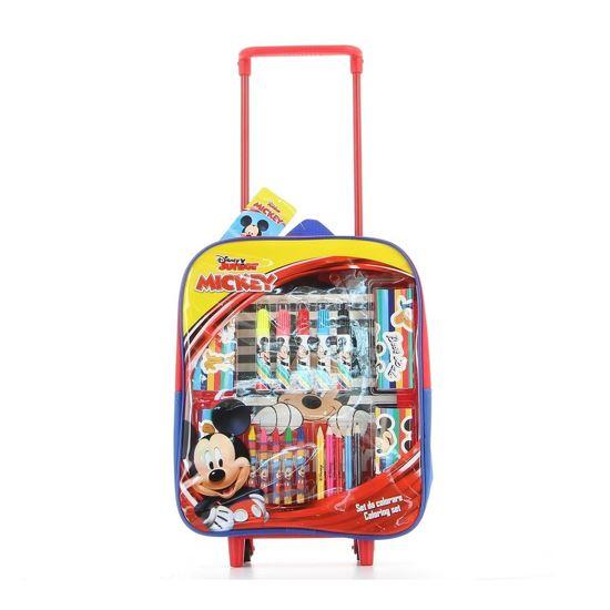 Immagine di MICKEY - Trolley con colori, album e adesivi