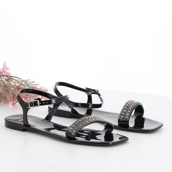 Immagine di BACHATA - Sandalo con strass sulla fascia e cinturino alla caviglia